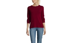 Gabriella Rossi Cashmere Basic Crew Neck - Scarlet Rose - Size: Small
