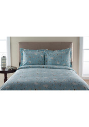 T300 100% Cotton Oceanside Print Duvet Set: King/Sea
