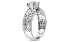 1 7/8 CT TGW Created White Sapphire Engagement Ring - Size: 8.5