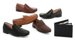 Slip-on Dress Shoes: Black Pu/7
