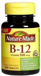 Nature Made - Vitamin B12 - Tablets 500 mcg, 200
