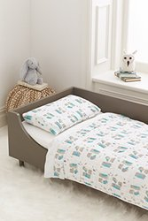 Aden and Anais Wise Guys Organic Toddler Bedding Set white, 3