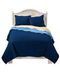Circo Basic Quilt Set - Blue - Size: Full/Queen