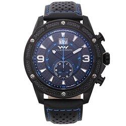 Weil & Harburg Men's Swiss Chronograph Watch - Black