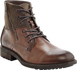 Marco Vitale Men's Side Zipper Textured Boot - Brown - Size: 10
