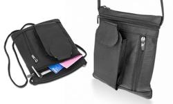 Trendy Soft Cell Phone Crossbody Bag: Black