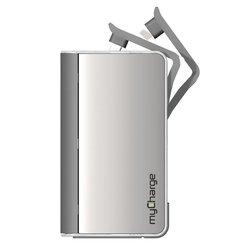 MyCharge Hub 6000 Mah Power Bank - Silver