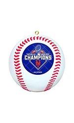 New York Mets 2015 World Series Baseball Ornament - White (420119)