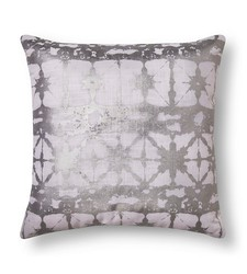 Xhilaration Metallic Shibore Decorative Pillow - Silver