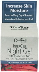 Reviva Labs Intercell Night Gel with Hyaluronic Acid - 1.25 oz.