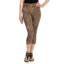 K&M Women's Stretch Knit Pull-on Capri Leggings - Animal Capri - Size: 1x