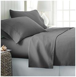 ienjoy Home 4 Piece Home Collection Premium Ultra Soft Bed Sheet Set, Twin X-Large, Gray