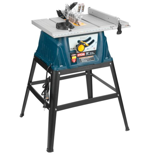 ... Ryobi 15 Amp 10 In. Table Saw With Stand (RTS10) ...