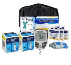 DTK Bayer Contour Next Ez Meter Test Strips Alcohol Prep Pads