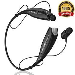 Phaiser Bluetooth Stereo Around-the-Neck Earphones - Black - BHS-930
