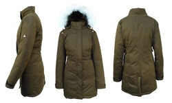 Spire By Galaxy Women's Down Jacket - Olive - Size: 3XL