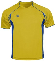 Admiral Men's Plata Soccer Jersey - Gold/Royal - Size: Youth Small