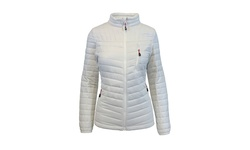 Spire by Galaxy Women's Packable Puffer Jacket - White - Size: Small