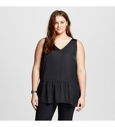 Who What Wear Women's Plus Size Tank Top - Ebony - Size: 1X