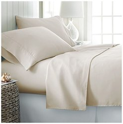 ienjoy Home 4 Piece Home Collection Premium Ultra Soft Bed Sheet Set, Twin X-Large, Cream
