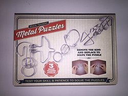 Meridian Point 3 Brain Teasers Metal Puzzles Games