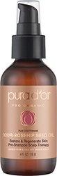 PURA D'OR Rosehip Seed Oil 100% Pure & USDA Organic For Face, Hair, Skin & Nails, 4 Fluid Ounce