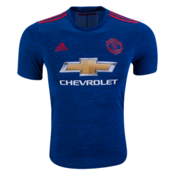 adidas Manchester United Authentic Away Jersey 16/17 - Size: Small