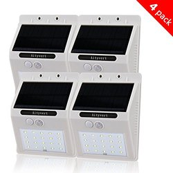 Aityvert Solar Light with Motion Sensor - 4 Pack - White
