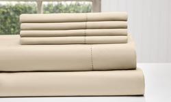 Wexley Home 1200tc Cotton-rich Sheet Set - Khaki - Full