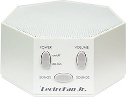 Lectrofan Jr. - White Noise Machine With 6 Fan And 6 White Noise Options Plus Nursery Rhymes, White (ffp)