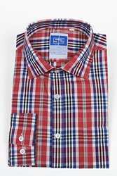 """Complicated Shirts Men's Plaid Shirt, Red, 17 Neck/32-33"""" Sleeve"""