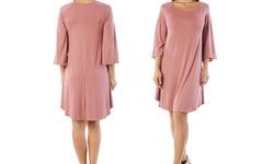 Nelly Women's Plus Size Tunic Dress - Blush - Size: 3XL
