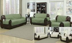Ashford Sofa Cover - 110x71 - Sage/Linen