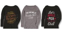 Ladies Long Sleeve Tees Chunky Sweaters & Bonfires - Size: 2X