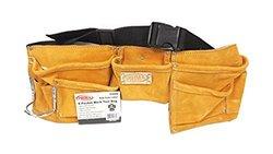 Prima Beige Suede Leather 8 Pocket Heavy Duty Work Apron