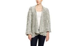 Beulah Long Sleeve Cardigan - Gray - Size S/M