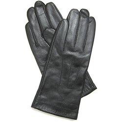 Snugrugs Leather Gloves with Full Fleece Lining - Black - Sizes Small