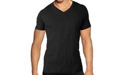 V Neck Under Shirt 3 Pack - Black - Size: Small