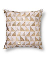 Xhilaration Metallic Triangle Throw Pillow - Gold