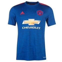 Adidas Men's Manchester United Authentic Away Jersey - Blue - Size: Large