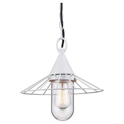 Room Essentials Wire 1 Light Drum Pendant - White