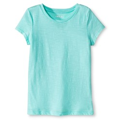 Cherokee Girls' Crew Neck Tee - Crystalized Green - Size: L-Plus