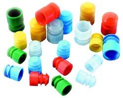 Kartell Yellow Polyethylene Test Tube Stopper/Cap Case of 1000