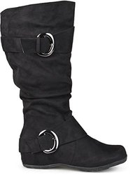 Brinley Co Women's Augusta-02xwc Slouch Boot, Black Extra Wide Calf, 10 M US