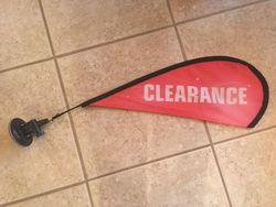 Flex Blade Sale Window Flag/Sign Complete with Suction Cup Flag