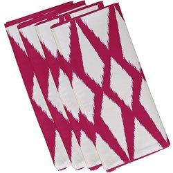 """E By Design Geometric Decorative Napkin - Fuchsia Size: 10"""" by 10"""""""
