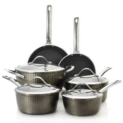 Todd English Wainscott 10-Piece Cookware Set - 455-874 - Gunmetal Gray