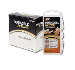 Duracell 80 Pieces Activair Hearing Aid Batteries - Size 312