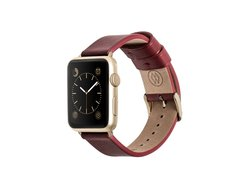 Monowear Leather Band for Apple Watch - Yellow Gold - Size: 42mm