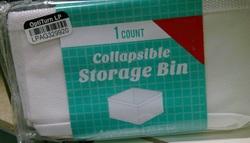 Generic Collapsible 5.5-inch x 5.5-inch x 2.5-inch Storage Bin - White